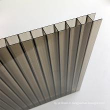 Feuille de PC creuse en polycarbonate à effet de serre de 8 mm Garantie de 10 ans avec certification ISO, CE, UL, SGS