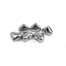 Hot sales bpa free stainless steel made heart shape reusable ice cubes whiskey stones