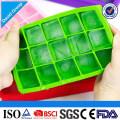 Bandeja de hielo durable al por mayor del silicón de la categoría alimenticia