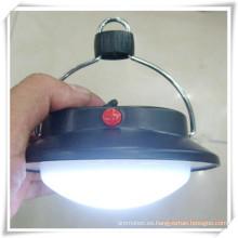 Linterna plana que acampa redonda del LED con el gancho para la promoción