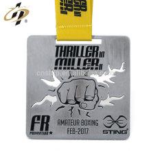 Die cut zinc alloy debossed own design custom taewondo medal for sports