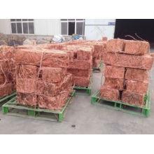 Proveedor profesional Proveedor de chatarra de cobre de venta caliente de 99,9% de alta pureza de fábrica