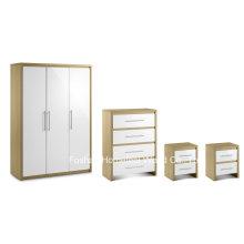 4 Piece High Gloss Bedroom Wooden Furniture Wardrobe Set (BD23)