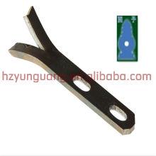 Chape de support en forme de Y / raccord de ligne d'alimentation électrique / bride de câble supports en acier inoxydable matériel de coin extérieur d'intérieur