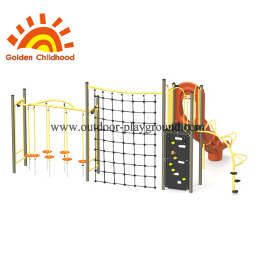 Structure d'escalade orange pour enfants