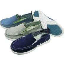 Обувь лучшие продажи Мужская мода скольжения на холст обувь досуг обувь