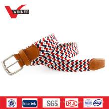 Factory webbing braided elastic belt
