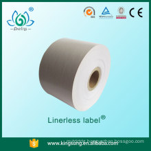 linerless label without base paper