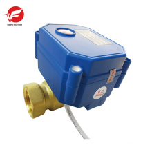 BSP 2 way DN20 brass electric water Valve for sanitary ware