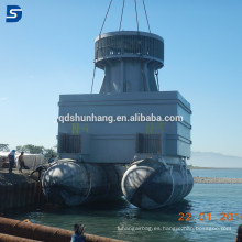 pontón de goma marino para la plataforma flotante Salvage Lifting airbags