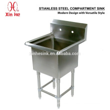 NSF Freestanding Commercial Stainless Steel 1 One Compartment Sink for Catering
