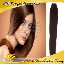 2015 beste verkaufen reines Haar philippinische seidige gerade Menschenhaarverlängerung