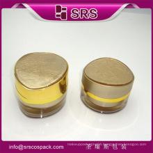 China Empty Cosmetic Packaging Acrylic 30ml 50ml Sweet Cosmetic Jar