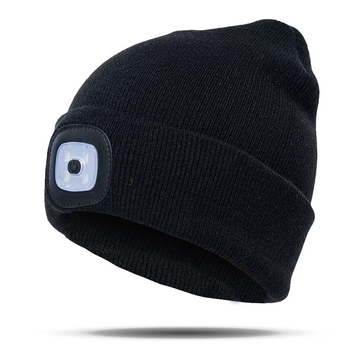 2018 Popular Led Beanie Hat With Lamp 1