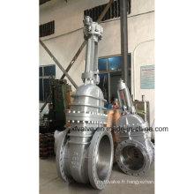 API6d 150lb 300lb 600lb Joint Steel Gear Operation Gate Valve