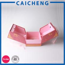 Emballage de boîte de rangement cosmétique personnalisé de boîte de cadeau de porte de mariage de velours