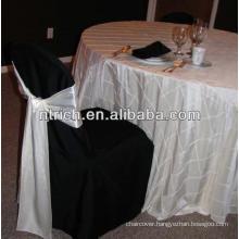 Pintuck taffeta table cloth for wedding