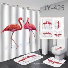 Custom Printing Bath Liner,shower Curtain Cheap Price Style New 3D Happy Hallowmas Design 100% Polyester Shower Curtain 15 Days