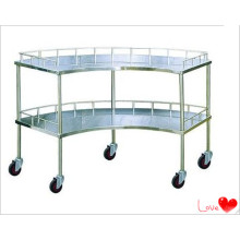 S. S Mobilier d'hôpital Trolley Scollopped
