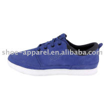 hot blue skate shoes with suede upper