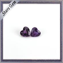 Deep Purple Natural Amethyst Heart Shape Gemstone