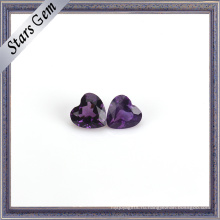 Глубокий Фиолетовый Природный Аметист В Форме Сердца Драгоценный Камень