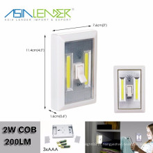 COB LED sem fio luz noturna com interruptor