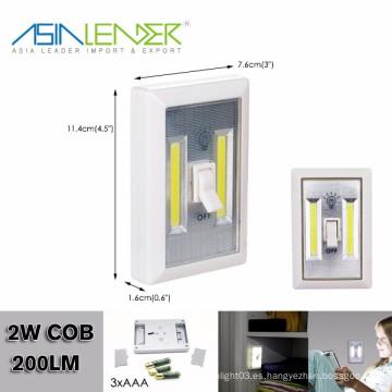 COB LED de luz nocturna inalámbrica con interruptor