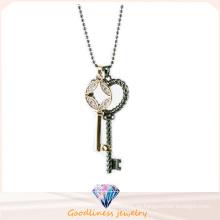 Schlüsselform-Entwurfs-Schmucksache-Qualitäts-Frauen Art- und Weiseschmucksachen 925 Sterlingsilber-Schmucksache-Halskette (N6663)