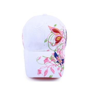 Plain White Baseball Cap with Logo