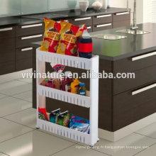Slim Slide Out garde-manger tour de rangement pour la lessive et salle de bain et cuisine