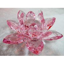Crystal Lotus Candle Holder (JDH-048)