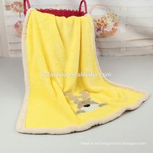 Franela super suave caliente Embroiered mantas