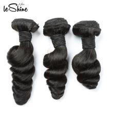 Extensão brasileira do cabelo do russo da extensão do cabelo do Virgin do cabelo de Leshine