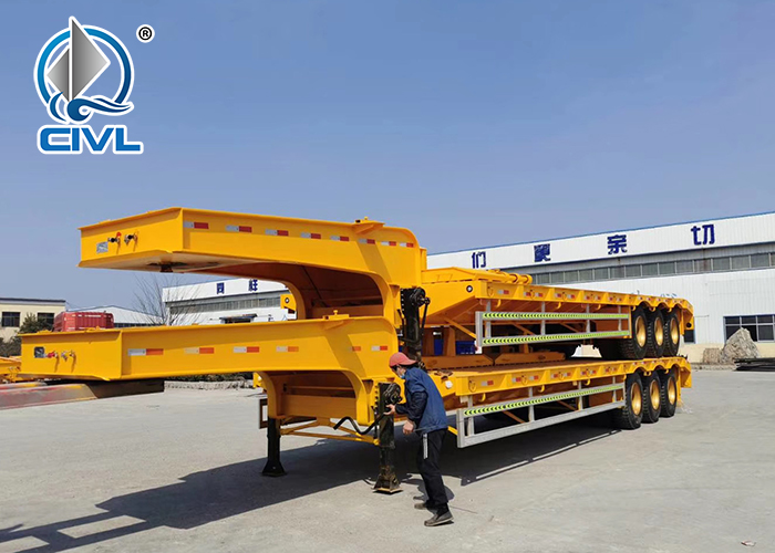Lowbed Semi Trailer For Machinery 4