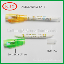 Multi-function Dual Tips Invisible UV Pen with Ball Pen