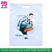 Cheapest multicolor printing Die Cut Patch Handle Biodegradable Plastic Bag