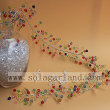 Colorful Acrylic Faceted Beads Garland Tree Branches