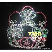 Fetiche de fantasia noiva de borboleta coloridas tiaras de cristal à venda