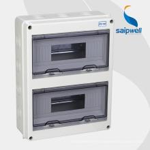 Boîte de distribution électrique extérieure de Saip IP66, clôture 380 * 273 * 110mm de MCB
