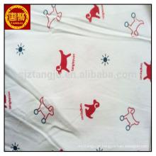 Pano de bebê usado 95% algodão 5% spandex tecido de malha de bloqueio