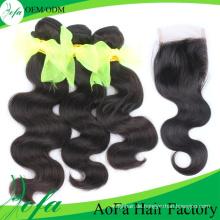 Top-Qualität brasilianisches Haar Menschenhaarverlängerung Virgin Remy Haar