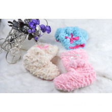 winter custom plush warm indoor sock slipper
