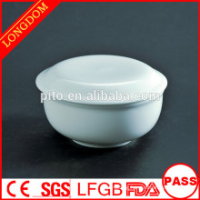 P&T chaozhou factory ceramic soup bowl with cover restaurant dinnerware