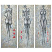 Peinture à l'huile originale Beautiful Abstract People