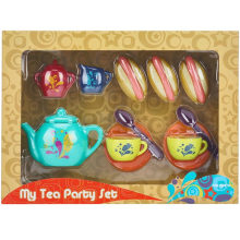 Brinquedo plástico do jogo do chá das crianças