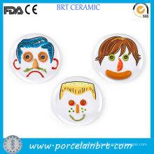 Interesting DIY Food Porcelain Children Face Plate