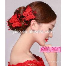 Accesorios chinos únicos del pelo de la flor nupcial de la boda china