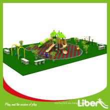 Divertido piso de goma estera Straw House Playground utilizado en el Parque con Swing y al aire libre Fitness