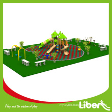 Funny Rubber Mat Flooring Straw House Playground Used in Park with Swing and Outdoor Fitness